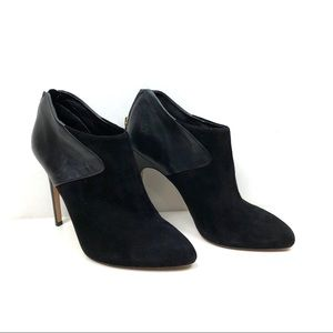 Sam Edelman black suede & leather booties 7.5